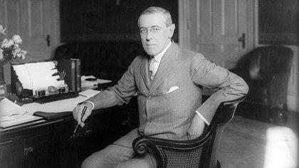 El presidente de Estados Unidos, Woodrow Wilson, tuvo un rol central en las negociaciones de paz