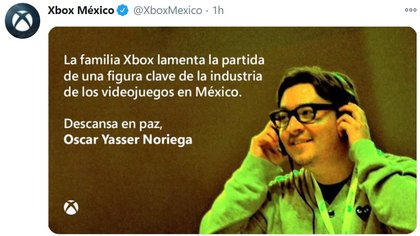 Diversos entusiastas de los videojuegos y la cultura geek han expresado sus condolencias (Foto: Captura de pantalla)