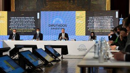 Martìn Guzmán, cuando presentó en Diputados el Presupuesto 2021