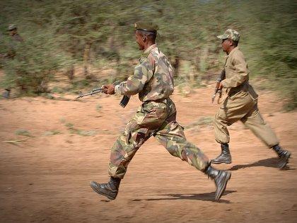 29/05/2020 Militares etíopes realizan maniobras de combate POLITICA AFRICA ETIOPÍA INTERNACIONAL DEPARTAMENTO DE DEFENSA DE EEUU