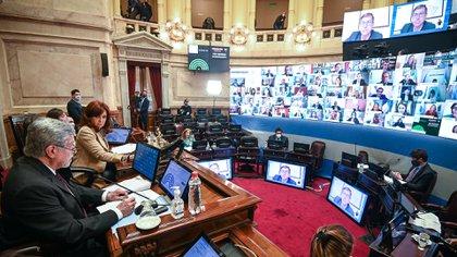 El Senado trató el traslado de los jueces durante la última sesión (Charly Diaz Azcue / COMUNICACIÓN SENADO.)