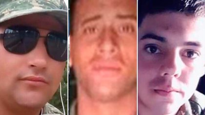 Los tres infantes de marina asesinados