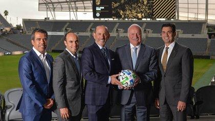 Directivos de ambas Ligas presentaron el partido a jugarse en julio de 2020 (Foto: Liga MX/ MLS)