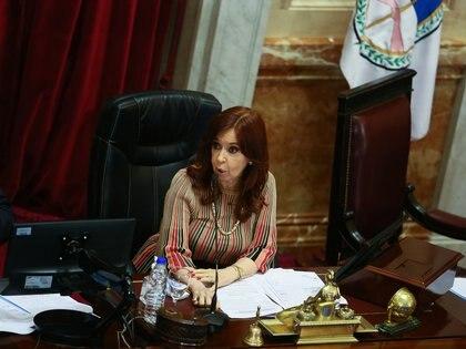 Cristina Kirchner, presidenta del Senado (REUTERS)