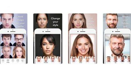 La aplicación creó las imágenes virales de famosos y otras famosas con aspecto de viejos (Foto: Captura de Pantalla)