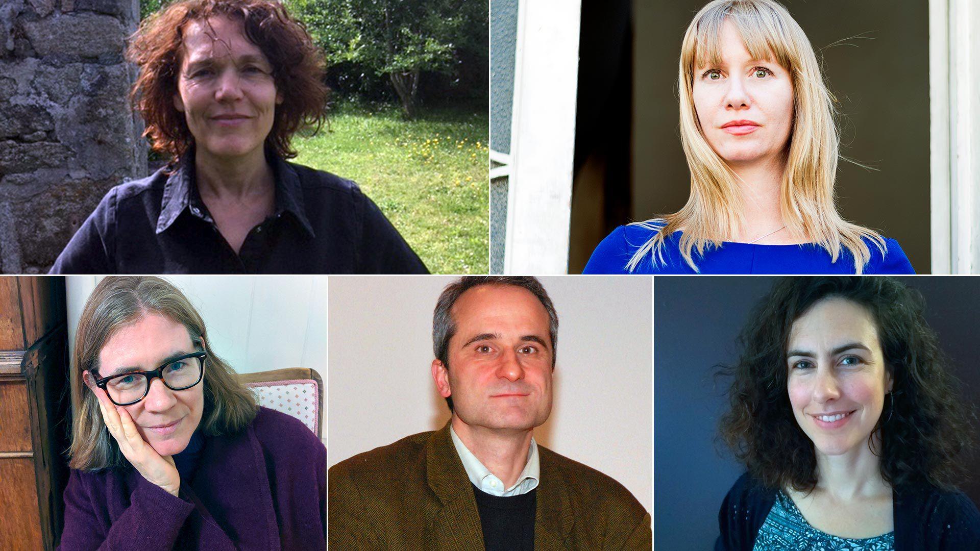 Arriba, de izq. a der.: Isabelle Cugnon y Megan McDowell. Abajo: Fiona Mackintosh, Peter Kultzen e Iona Macintyre