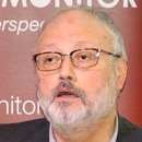 Saudi dissident Jamal Khashoggi speaks at an event hosted by Middle East Monitor in London, Britain, September 29, 2018. Picture taken September 29, 2018. Middle East Monitor/Handout via REUTERS ATTENTION EDITORS - THIS IMAGE WAS PROVIDED BY A THIRD PARTY. THIS IMAGE WAS PROCESSED BY REUTERS TO ENHANCE QUALITY, AN UNPROCESSED VERSION HAS BEEN PROVIDED SEPARATELY.
