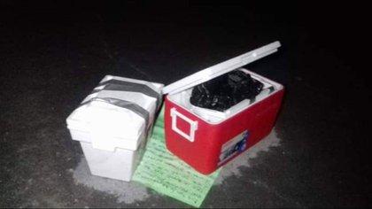 Los restos fueron dejados en las inmediaciones de los tres penales durante la madrugada de este miércoles (Foto: @Sr_JUZTICIA)
