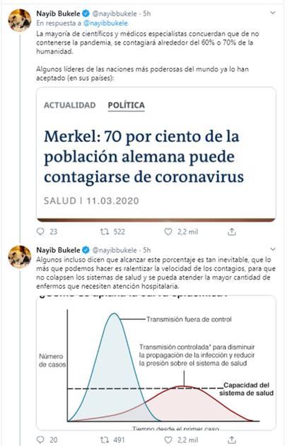 El mensaje de Nayib Bukele para tomar medidas extremas por el coronavirus