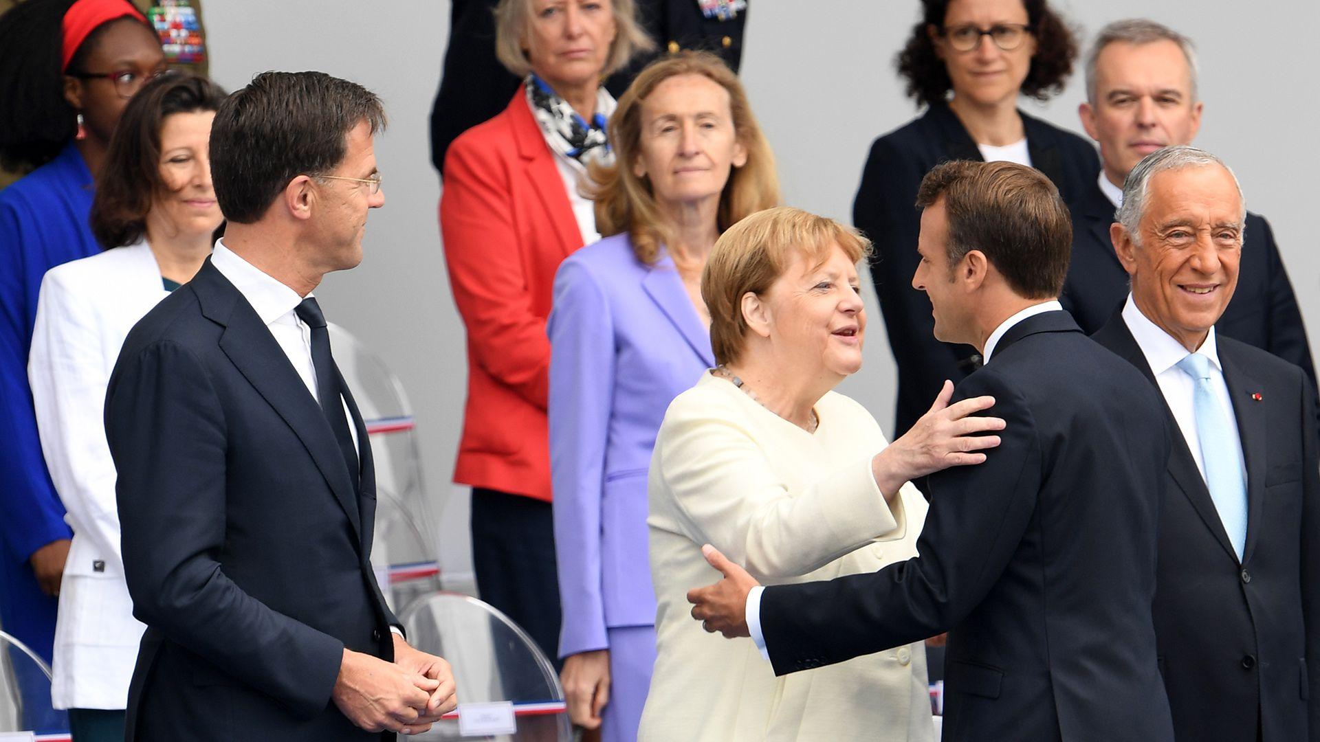 La canciller alemana Angela Merkel participó de las celebraciones (AFP)