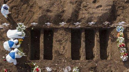 Vista aérea del Cementerio General de Santiago (AFP)