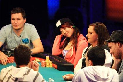 la joven participaba del World Poker Tour