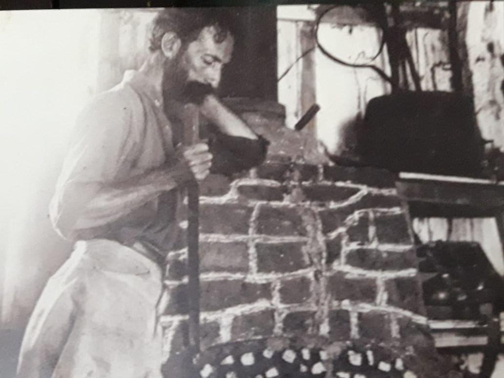 Horacio Quiroga en su casa de San Ignacio, Misiones