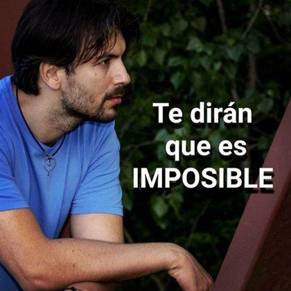 """""""Te dirán que es imposible"""", otro de las publicaciones que Laín hace en su Instagram a sus más de 100.000 seguidores"""