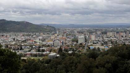 Vista panorámica de la ciudad chilena de Temuco. Abril 25, 2020. REUTERS/Jose Luis Saavedra