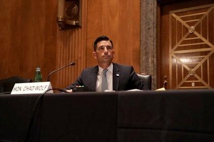 El juez Nicholas Garaufis afirma que Chad Wolf (en esta imagen) fue nombrado ilegalmente como director interino de Seguridad Nacional