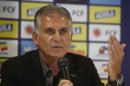 En la imagen, el seleccionador de Colombia, Carlos Queiroz. EFE/Luis Eduardo Noriega A./Archivo