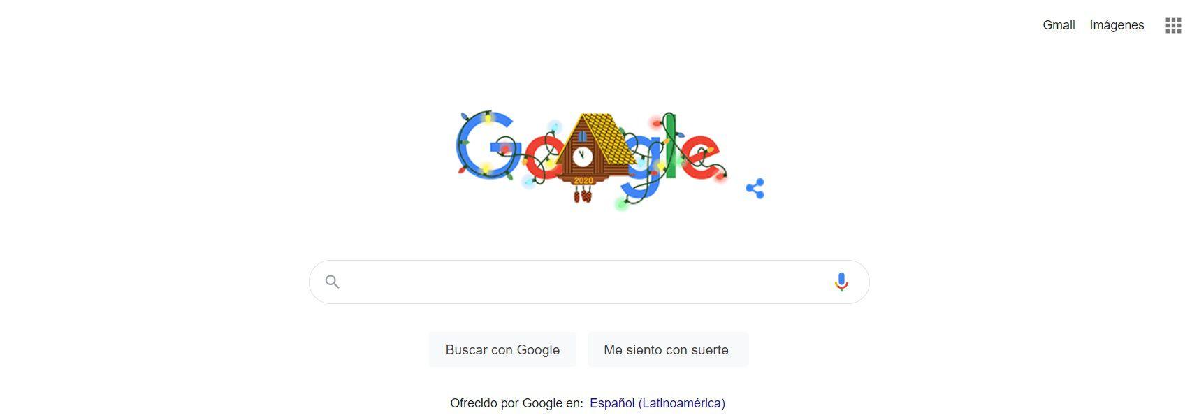Google Doodle con el reloj Cucú