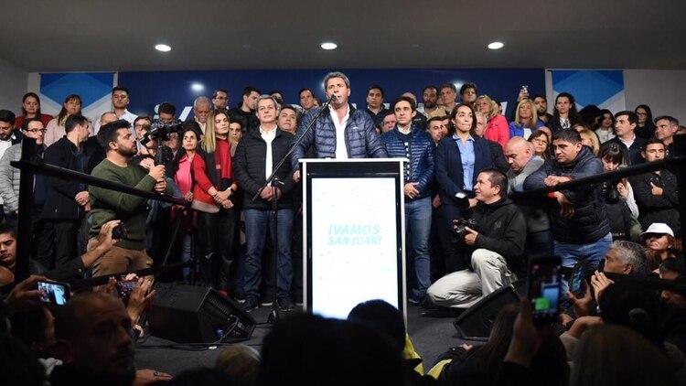 El discurso de Uñac tras el anuncio de los resultados