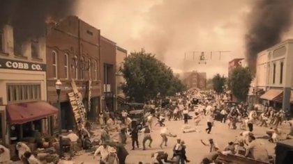 """Los ataques de Tulsa de 1921 representados en """"Watchmen"""" (Foto: Captura de pantalla)"""