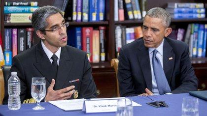Vivek Murthy, durante su gestión como Cirujano General de EEUU (Bloomberg)