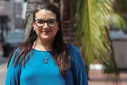 """Arussi Unda, portavoz del colectivo feminista """"Brujas del Mar"""" (Reuters)"""