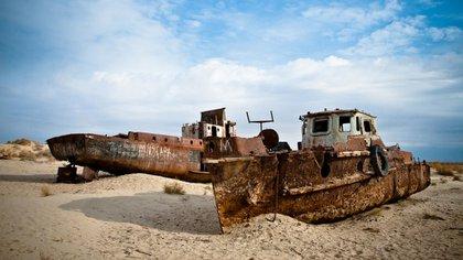 Hoy el mar Aral es resultado de la intervención humana en el ambiente: ocupa un diez por ciento de su superficie original