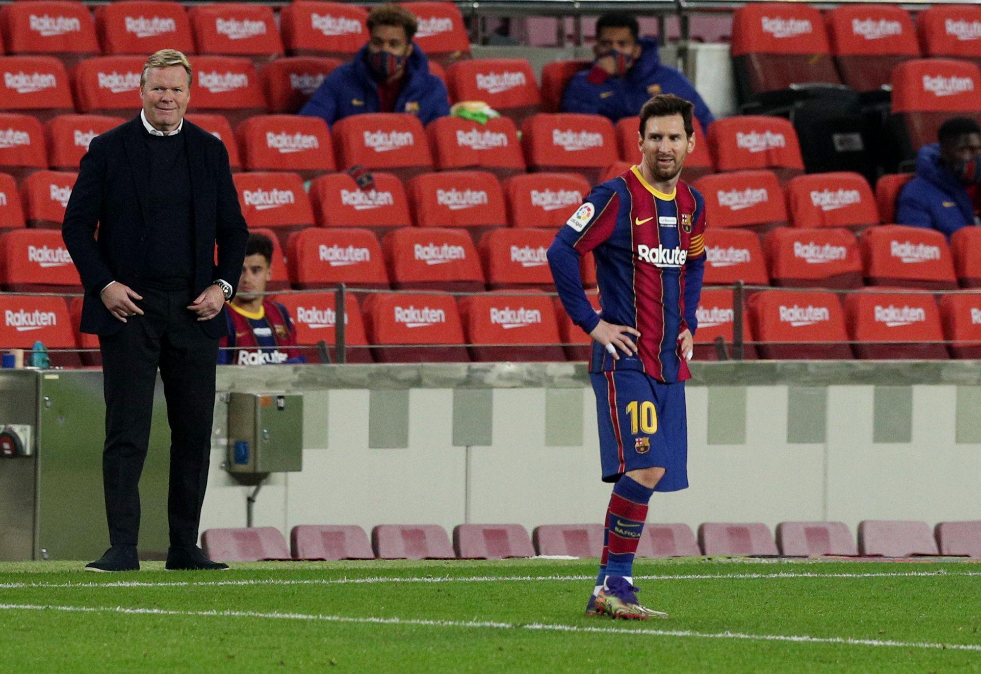 El Barcelona transita por un camino irregular en la temporada - REUTERS/