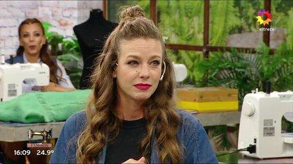Geraldine Neumann debutó en Corte y Confección en remplazo de Fernanda Callejón (Captura de pantalla - El Trece)
