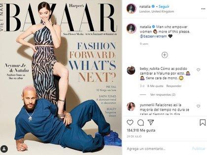 También reveló lo que significó para ella la portada de la revista Harper's Bazaar Vietnam, que protagonizó hace unos meses junto a Neymar (Foto: Instagram de Natalia Barulich)