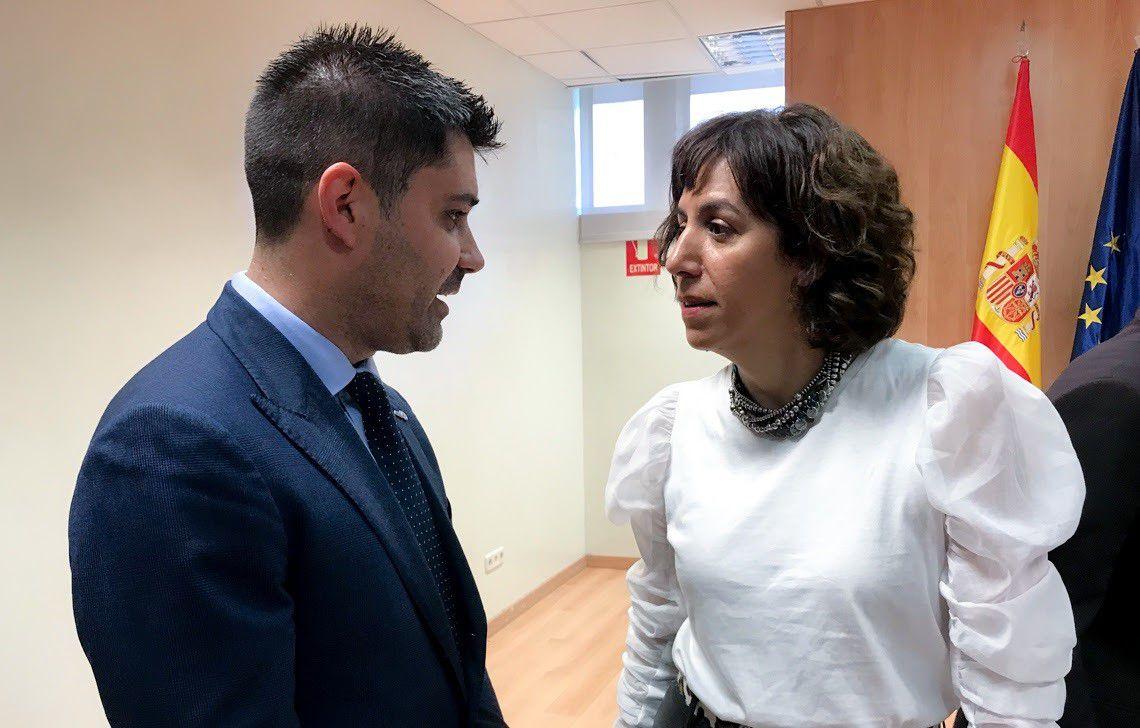 31/01/2020 El presidente de AFE, David Aganzo, charla con Irene Lozano, presidenta del CSD ESPAÑA EUROPA DEPORTES MADRID AFE