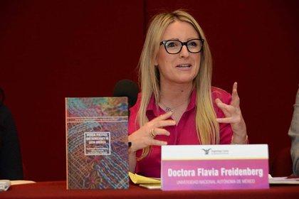 Flavia Freidenberg, profesora de la Universidad Autónoma de México