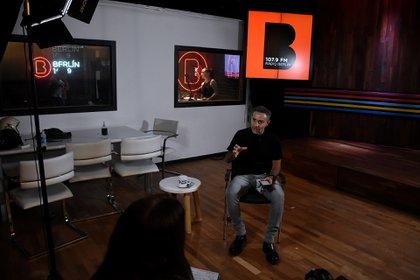 Luis Majul en su espacio audivisual (Foto: Nicolas Stulberg)