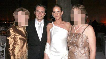 Emilio Lozoya con su esposa, Marielle Helene Eckes (Foto: El Universal)