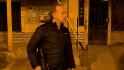 Sergio Berni encabezó, arma en mano, el operativo en Zárate