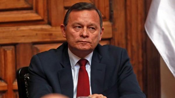 El ministro de Relaciones Exteriores de Perú, Néstor Popolizio