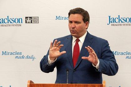 El gobernador de Florida, Ron DeSantis. (Estados Unidos) EFE/EPA/CRISTOBAL HERRERA-ULASHKEVICH/Archivo