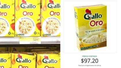 El kilo de arroz ya cuesta casi 100 pesos