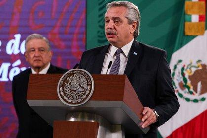El presidente Alberto Fernández habló desde México (FOTO: GALO CAÑAS/CUARTOSCURO.COM)