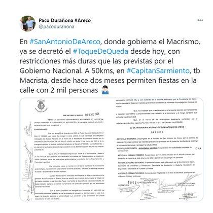 """El mensaje de """"Paco"""" Durañona en las redes sociales"""
