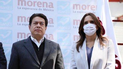 """Delgado aseguró que Flores tiene los valores representativos de la """"Cuarta Transformación"""" (Foto: Twitter @mario_delgado)"""