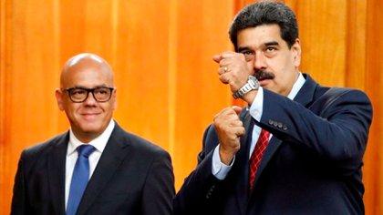 Maduro y Jorge Rodríguez, el negociador de la dictadura chavista