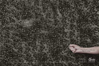 Campaña de concientizacion en conmemoración a las víctimas del Holocausto.