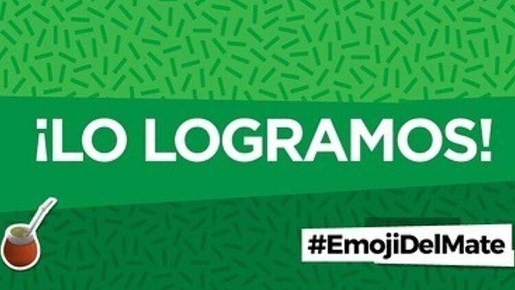 La cuenta de Twitter @emojidelmate_ok, fue la que se usó para dar a conocer la propuesta de incluir al mate como icono (Foto: @emojidelmate_ok)