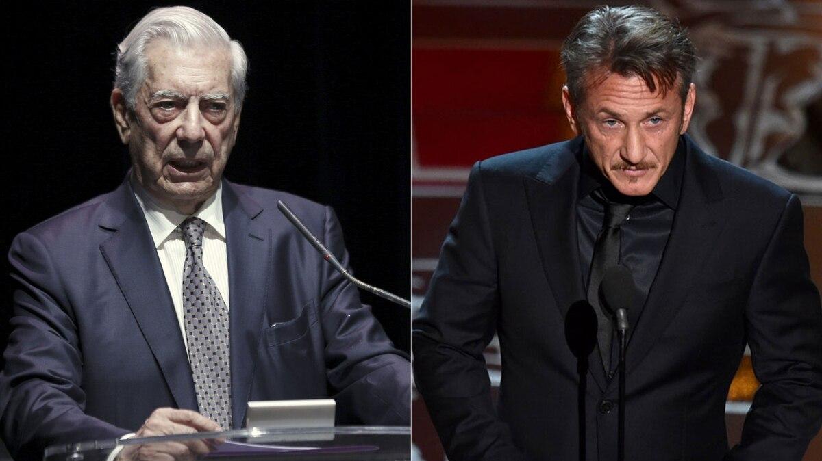 """Mario Vargas Llosa a Sean Penn: """"Además de dictadores, los progresistas de Hollywood defienden a asesinos en serie"""""""