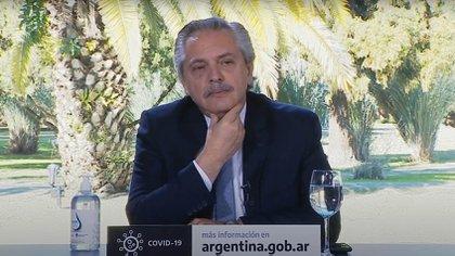 Alberto Fernández en la quinta presidencial de Olivos