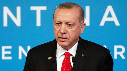 Recep Tayyip Erdogan en una conferencia de prensa en el segundo día de la Cumbre del G20 en Buenos Aires (Reuters)
