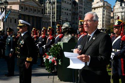 El embajador de México Oscar Ricardo Valero Recio Becerra en un acto en Buenos Aires (Twitter: @EmbaMexAr)