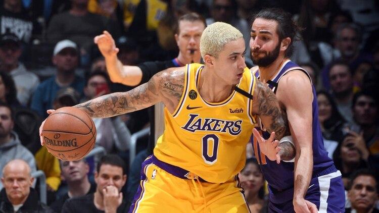 Kyle Kuzma, protagonista de la jugada de la noche en la NBA (AFP)