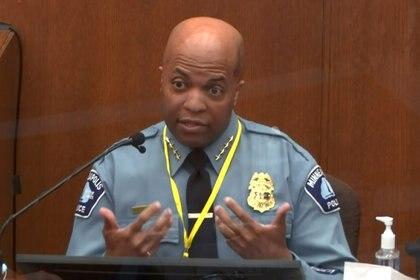 El jefe de policía de Minneapolis, Medaria Arradondo.  Pool via REUTERS